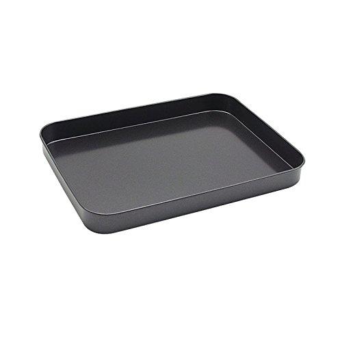 anaan Mimas Serviertablett Schmucktablett Kerzentablett aus Edelstahl beschichtet Tablett für Kaffee Frühstück Schmuck Deko rechteckig 25x19x2.5 cm (Schwarz)