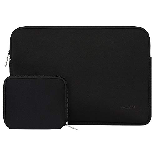 MOSISO Tablet Hülle Kompatibel mit iPad Pro 11 Zoll (3rd Gen) M1 5G 2021-2018,2020 10.9 iPad Air 4,10.2 iPad 8./7.Gen, 10.5 iPad Air 3, iPad 9.7,Wasserabweisend Neopren Tasche mit Klein Fall,Schwarz
