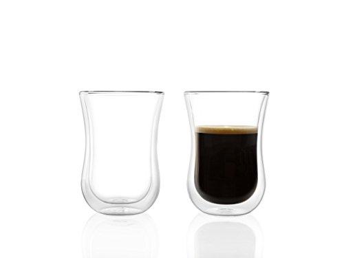 Stölzle Lausitz Kaffeegläser und Teegläser Coffee 'N More, 230 ml, Gr. L, 2er Set, Thermobecher, universell einsetzbar, für Heiß- und Kaltgetränke, mundgeblasen, isolierend, spülmaschinenfest