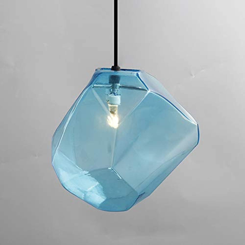 Lichtervorhang Deckenleuchte Einfache Steinglaspendelleuchte Bunte Indoor G4 Led Lampe Das Restaurant Esszimmer Bar Cafe Shop Leuchte Ac110-265 Groe Blau