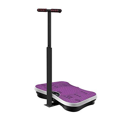ZHYJJ 4D Vibrationsplatte – Leistungsstark Mit 2 Leisen Motoren | Leicht Zu Bedienen | Magnetfeldtherapie Massage | Ultra Komfort,Purple