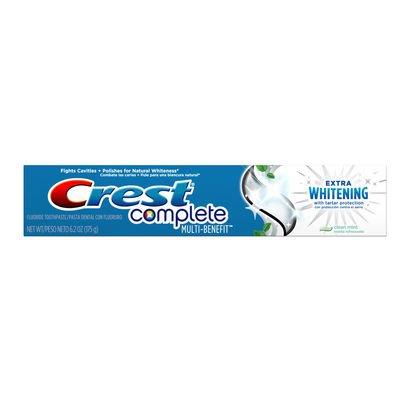 2x Crest Complete extra whitening met Tartar Protection tandpasta/tandpasta - uit de VS