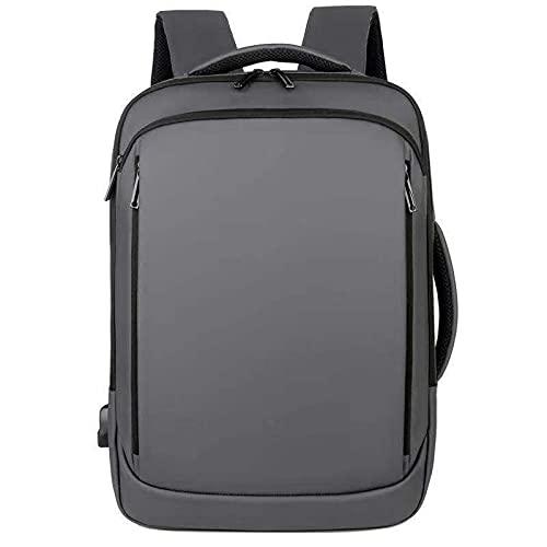 Mochila delgada para portátil de viaje bolsa impermeable de negocios casual Daypack para hombres senderismo con puerto USB Charing, gris, L