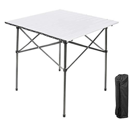 Ever Advanced Mesas de Acampada Plegable Aluminio Ligero para 4 Personas Mesa Compacta con Bolsa de Transporte para Camping Picnic Patios Barbacoas
