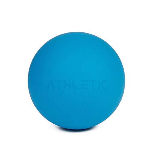 ATHLETIC AESTHETICS Massage-Ball [6cm Durchmesser] - Als Lacrosse-Ball und Faszien-Ball zur Selbstmassage und zur Triggerpunkttherapie (genaue Behandlung von Verspannungen) geeignet (Blau)