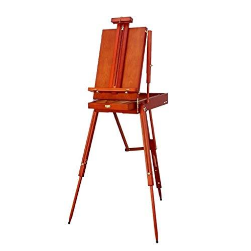ZLSANVD Art Easel, Retro Brown Oil Painting Box Portable Multi-Function Easel Portable Sketching Tool Caja de Pintura Herramientas de Pintura al óleo Suministros de Arte for Adultos