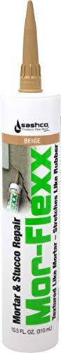 Sashco 15010 10.5oz Sashco Sealants Beige MorFlexx Mortar & Stucco Repair, 10.5-Ounce