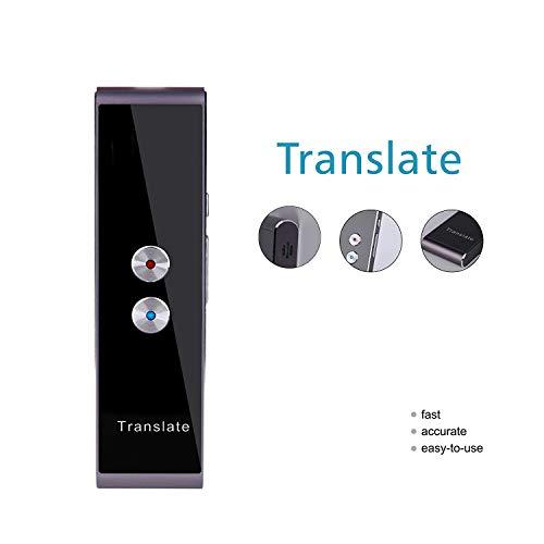 New T8 Handheld Pocket Smart Voice Translator Real Time Speech Translation, 33+ Languages for Travel Business Shopping Meeting Translator (Black)