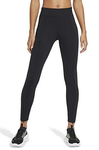 NIKE Pantalones Legasee con Cremallera para Mujer. Negro/Negro XL