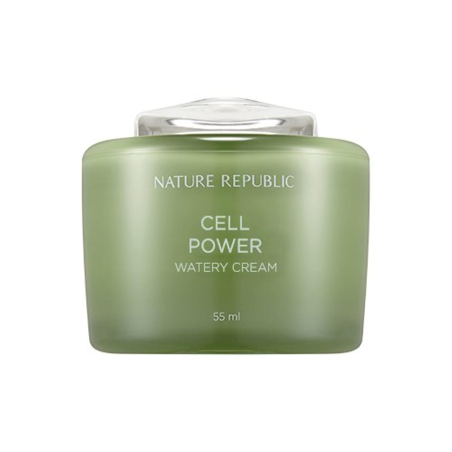 回答過度の華氏Nature Republic Cell Boosting Watery Cream 55ml / ネイチャーリパブリックセルブースティングウォーターリークリーム 55ml [並行輸入品]