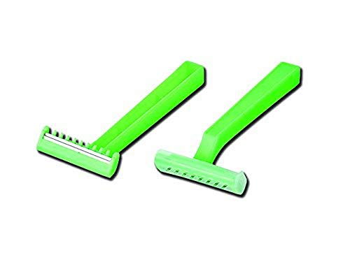 Gima 27081 chirurgical rasoirs, double lame (lot de 100) Vert