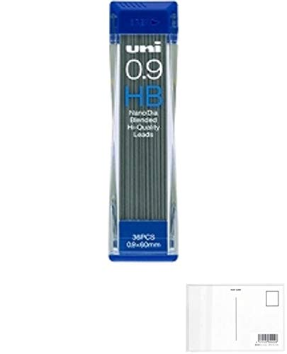三菱鉛筆 ユニシャープ芯ナノダイヤ0.9 HB 3個セット + 画材屋ドットコム ポストカードA