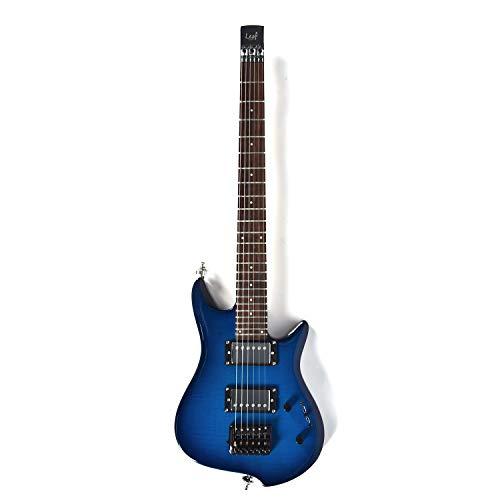 Asmuse Guitarra Eléctrica sin Cabeza, Guitarra LEAF pequeña de Escala Completa, Ultra-ligero...