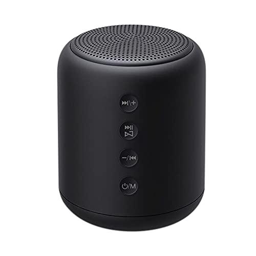 X7 Altavoz inalámbrico Mini bajo Tarjeta TF Altavoz Reproductor de MP3 Radio FM Caja de Sonido Altavoz Compatible con Bluetooth con micrófono Negro
