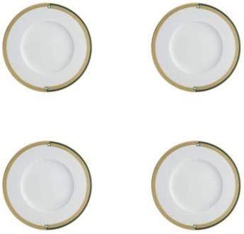 Vista Seattle Mall Alegre Emerald Bread and Plate Set Butter Selling of 4