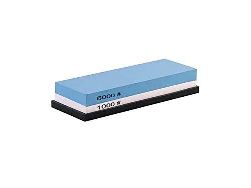 Effectieve messenslijper 2-in-1 slijpsteen met korrel 1000/6000 korrel, slijpsteen ideaal voor keukenmessen enz. op basis van antislip silicone.