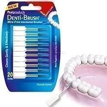 THREE PACKS of Denti-Brush Wire Free Interdental Brushes by Denti-brush