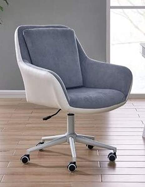 Home Office Chair Executive Mid Back Computer Table Desk Chair Swivel Height Adjustable Ergonomic With Armrest Two Tone