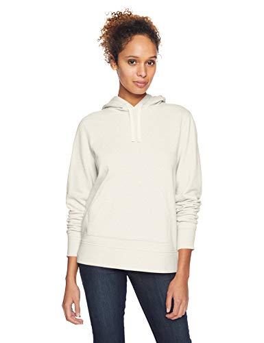 Amazon Essentials – Sudadera de tejido de rizo francés con capucha y forro polar para mujer, Beige (Oatmeal Heather), US S (EU S - M)