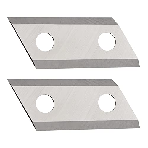 ES1600 Blades Replacement Garden Shredder Chipper Blades Double-Sided Cutting Blades Fit for Eco ES1600 McCulloch MCS2001, Cutters Kit 2 Pack