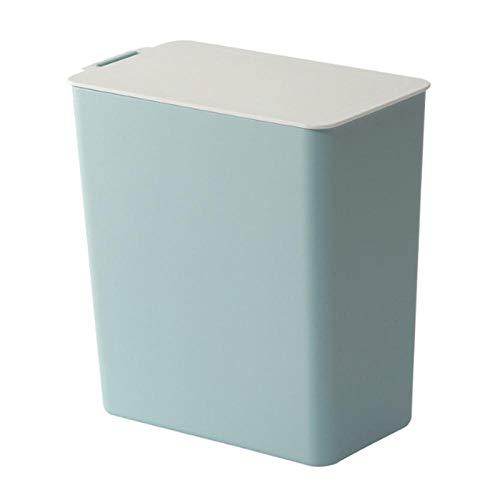mini trash can desktop small trash can office trash supplies trash can plastic trash-Blue_1.6L