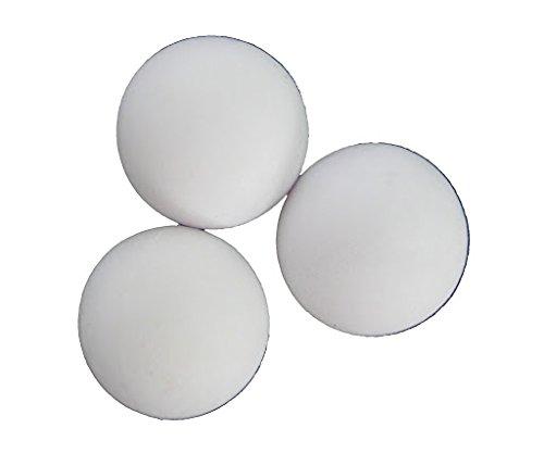 HUDORA 3 Bälle, 3,8 cm weiß für Tischkicker