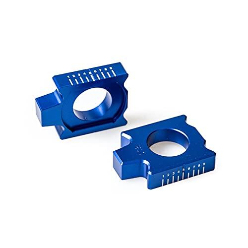 YYOMXXOM Tylna osi Kit łańcuch regulator pasuje do YZ125 YZ250 YZ250F YZ450F YZ125X YZ250FX YZ450FX WR250F WR450F WR250R WR250X YZ250X 2019 (Color : Blue)