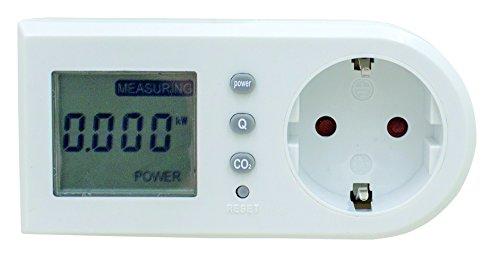 as - Schwabe 24051 Energiekosten-Messgerät, Stromverbrauch und Energiemessgerät, Weiss
