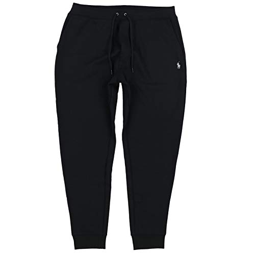 Polo Ralph Lauren Men's Double Knit Jogger Sweatpants, Polo Black, Medium