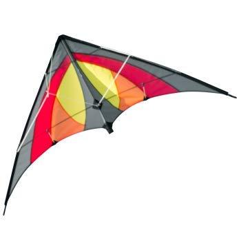 CIM Lenkdrachen - SHURIKEN MUSTHAVE Red Desert - Drachen für Kinder ab 8 Jahren - 120x60cm - inklusiv Steuerleinen auf Rollen - Einsteiger Lenkdrachen