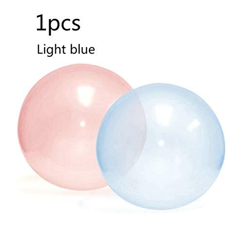 Bubble Bubble Ball Bola inflable grande Bubble Tpr Bola hinchable de goma suave Bola de luz grande Globo que sopla - Azul claro