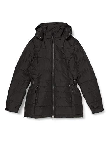 Killtec Veste matelassée Drinna pour femme - Aspect duvet - Veste d'hiver avec capuche amovible - Colonne d'eau de 10 000 mm. L Noir