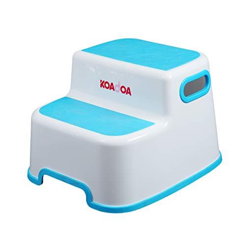 KAIDA 踏み台 子供 大人兼用 子ども 幼児 ステップ 2段 洗面所 手洗い お風呂 トイレ台 滑り止め (ブルー)