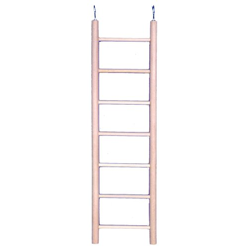 Penn Plax (BA110) 7-Step Wooden Bird Ladder