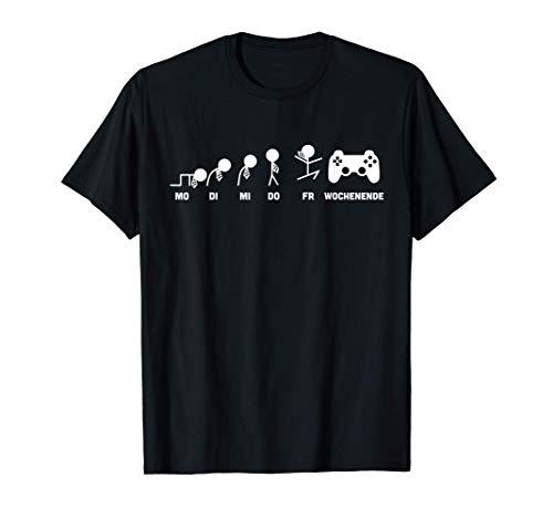 Gamer Evolution Meine Woche für Gaming Fan & Zocker T-Shirt