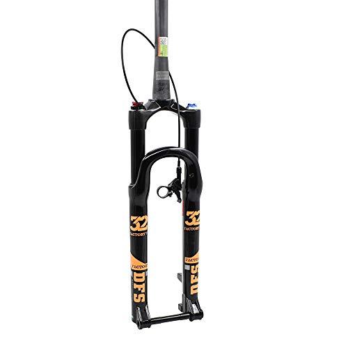 1.39KG DFS Carbon Luftgabel DFS-RLC-TP-RCE-TC-15x100 Federung Mountainbike Fahrrad MTB Gabel Carbon Lenkrohr + Crown Remote Lock Out 29 Zoll