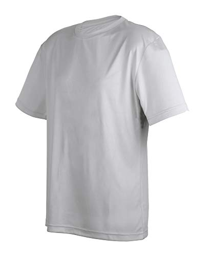 Workout Shirts for Men | Moisture Wicking Shirts, Breathable Build - Silver CA5200 3XL