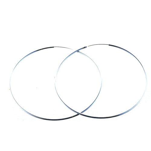 Bella Carina Damen Creolen 1,5 mm Stärke 1-9 cm Durchmesser, 925 Sterling Silber (7,5 Zentimeter)
