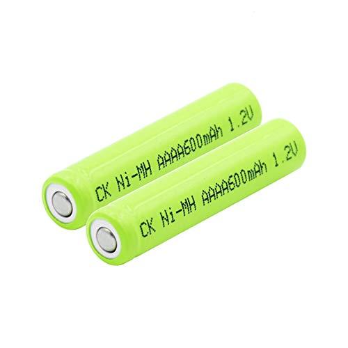 CNMMGL 1,2 v 600mah Wiederaufladbare AAAA Am6 Lr61 Ni-Mh Nimh Batterien, für OberfläChenstift Wecker Led Taschenlampe Taschenlampe Mini-LüFter 2pcs