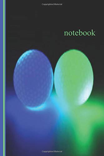 Notebook: glow in the dark bocce ball Lined Notebook / Journal Gift, 110 Pages, 6x9, Soft Cover, Matte Finish