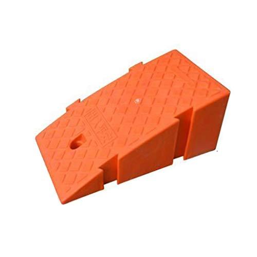 XUZgag Rampas portátiles de plástico para rampas, para el colegio, rampas, parques, curvas, adecuadas para alturas de 14 cm a 22 cm, almohadilla de seguridad para la montaña., plástico, naranja, 25*45*19cm