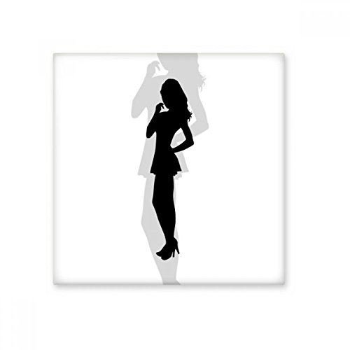 DIYthinker Caliente Hermosa Mujer de pie Silueta Brillante baldosa cerámica de baño Cocina Muro de Piedra Artesanal de Regalo Decoración