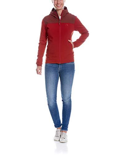 Tatonka Damen Lajus W's Hooded Jacket Jacke, aubergine/Lava red, Women