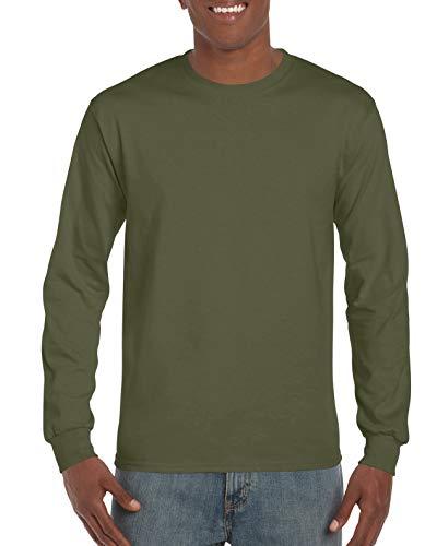 Cotton 6 oz. Long-Sleeve T-Shirt (G240) Military Green, XL