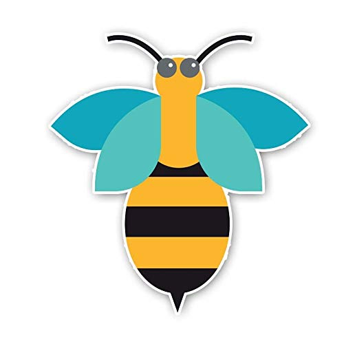 SSQ An Interesting Cartoon Bee Originality Decal Car Sticker 13.9Cm*14.9Cm
