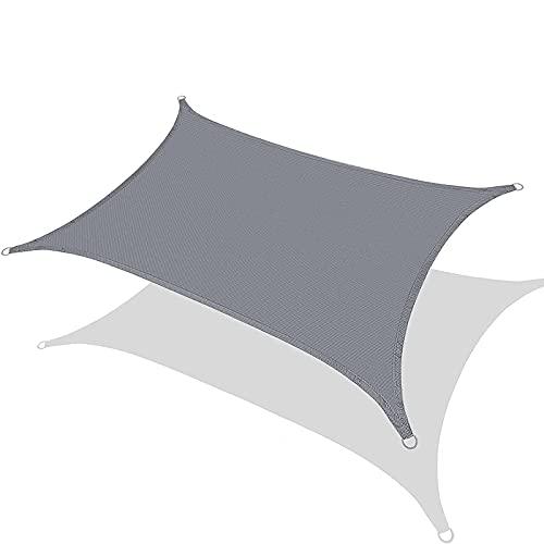 N\B Toldo rectangular de 3 m x 3 m, toldo para pérgola de jardín, con toldo de cuerda, apto para terraza al aire libre, jardín, césped, pérgola