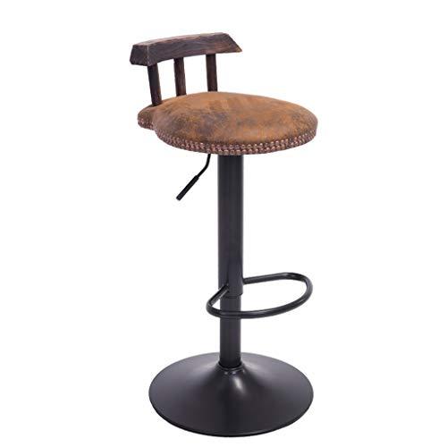 Dongy Sedia Bar, Sgabello da Cucina, Sedile Morbido, Seggiolone Regolabile in Altezza 360 ° (60~80 Cm) Carico Massimo 120 kg