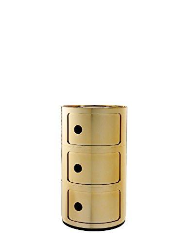 Kartell Componibile Elementos modulares, Amarillo (Oro), 32 x 58.5 x 33 cm