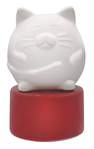 Wild Essentials Pretty Kitty Cat Ceramic Aromatherapy Wicking Diffuser for Essential Oils and Fragrance, Non-Electric Air Freshener for Bedroom, Office, Bathroom, 5 inches tall