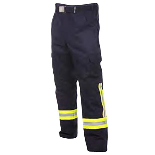 Feuerwehr Bundhose nach HuPF Teil 2mit Reflex nach DGUV-Empfehlung (wie Überhosen) mit Gürtel Gr. 48